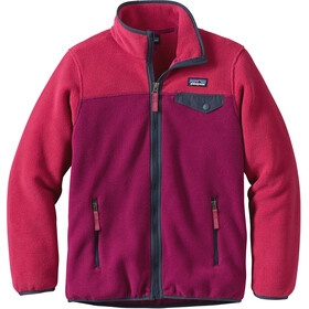Patagonia Kids Lightweight Synchilla Snap-T Jacket Magenta